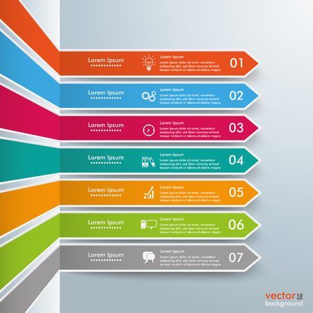 Infographic template with broken arrows on the gray background. Eps 10 vector file.