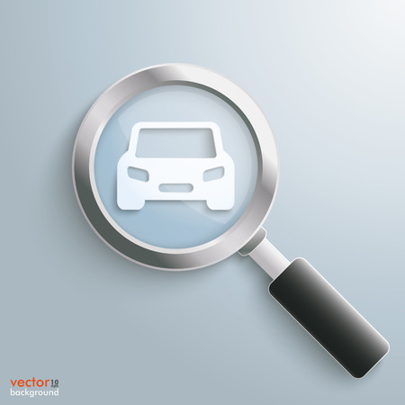 Paper car symbol on the gray background.Eps 10 vector file. Vector