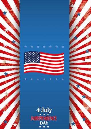 Langwerpig flyer ontwerp voor 4 juli onafhankelijkheidsdag.