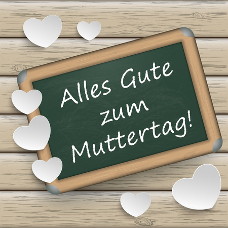 mothering: Germant text Alles Gute zum Muttertag, translate Happy Mothers Day.