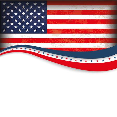 independencia: Día de diseño de fondo de la vendimia con la independencia de Estados Unidos-Bandera