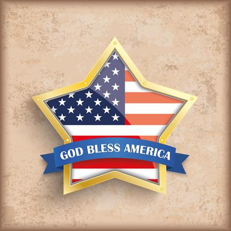 independencia: Independencia diseño de fondo con los colores de la vendimia día marrones y Estados Unidos-bandera estrella de oro.