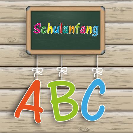 Green school board. German text