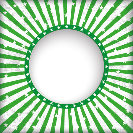 sustainably: Vintage green background with hole, stripes and hole.