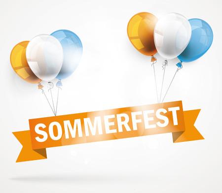 """Deutsch text """"Sommerfest"""" Illustration"""