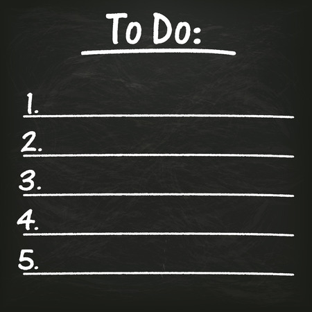 todo: Blackboard with to do list. Illustration