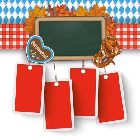 bretzel: German text O zapft is and Oktoberfest, translate on tap and Oktoberfest. Eps 10 vector file. Illustration