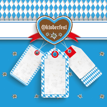 Oktoberfest design on the white background. German text Oktoberfest, translate Oktoberfest. Eps 10 vector file. Illustration