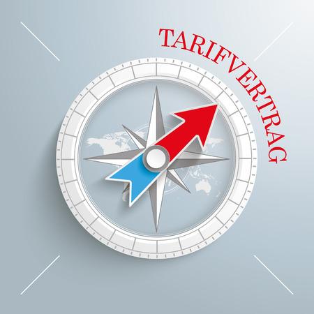 German text Tarifvertrag, translate Labor Agreement Eps 10 vector file. Illustration