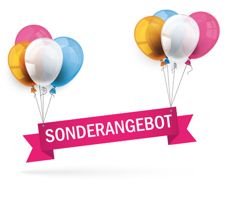 rebate: German text Sonderangebot, translate special offer. Eps 10 vector file.