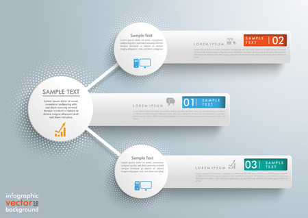 sell: Infographic design with network circles and banners on the gray background. Eps 10 vector file.