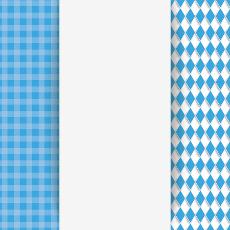 national colors: Oktoberfest flyer with bavarian national colors. Eps 10 vector file.