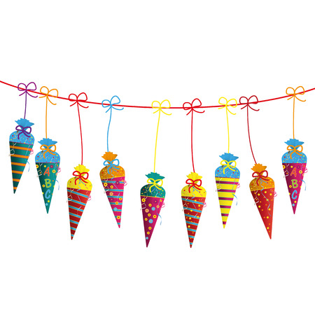 Candy cones on the white background. Eps 10 vector file.