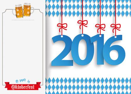 """jarra de cerveza: Texto alemán """"O'zapft es"""" y """"Oktoberfest"""", traducir """"de barril"""" y """"Oktoberfest"""". Eps 10 archivos de vectores. Vectores"""