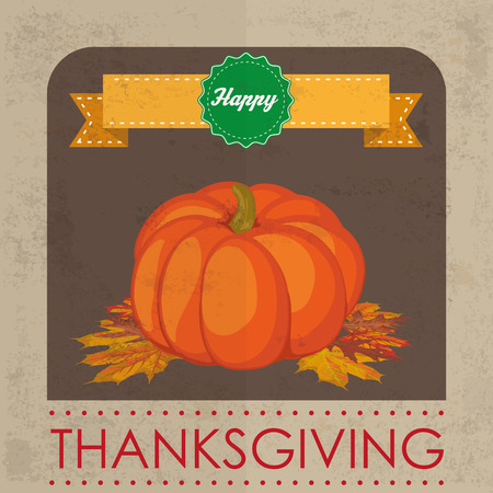 happy web: Thanksgiving background design with pumpkin. Eps 10 vector file.