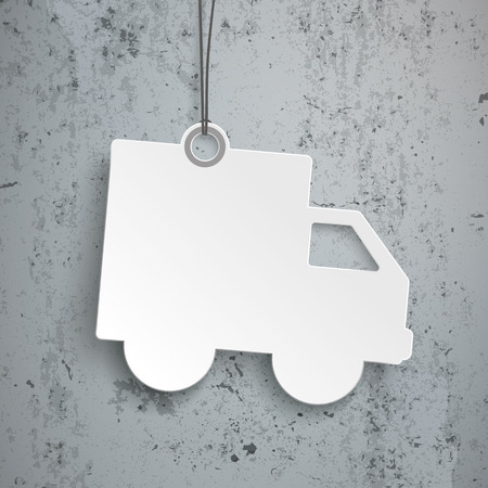land vehicle: Price sticker on the concrete background. Eps 10 vector file.