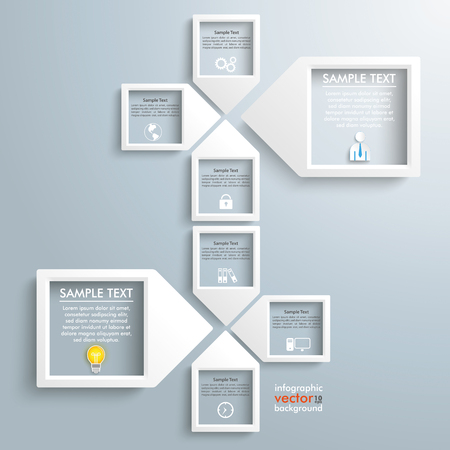 backround: 4 paper arrow frames on the gray backround. Eps 10 vector file.