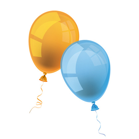 entice: Balloons with blackboard and text Back to School. Eps 10 vector file.