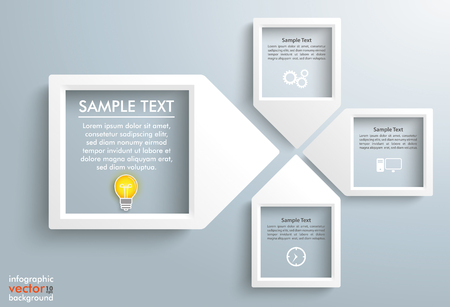 compatibility: 4 paper arrow frames on the gray backround. Eps 10 vector file.