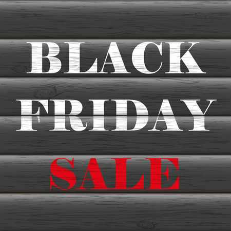 ten best: Text black friday sale on the wooden background. Eps 10 vector file. Illustration