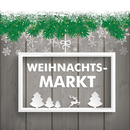 christmas market: German text Weihnachtsmarkt, translate Christmas Market. Eps 10 vector file.
