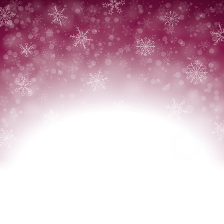 snoflake: Snow lights on the purple background. Eps 10 vector file. Illustration