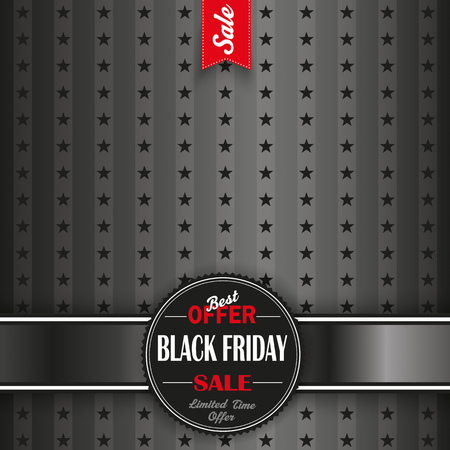 rebate: Black friday flyer with banner and emblem. Eps 10 vector file.