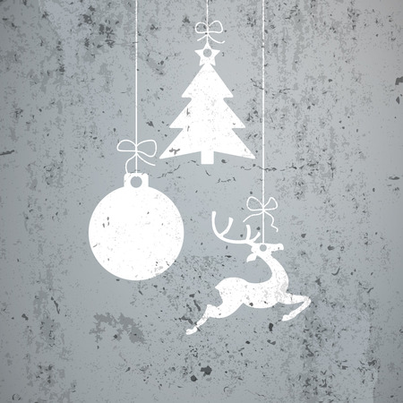 stag: Cristmas card with concrete background. Eps 10 vector file.