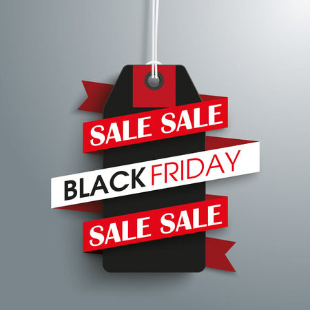 eps 10: Price sticker with ribbon for black friday. Eps 10 vector file. Illustration