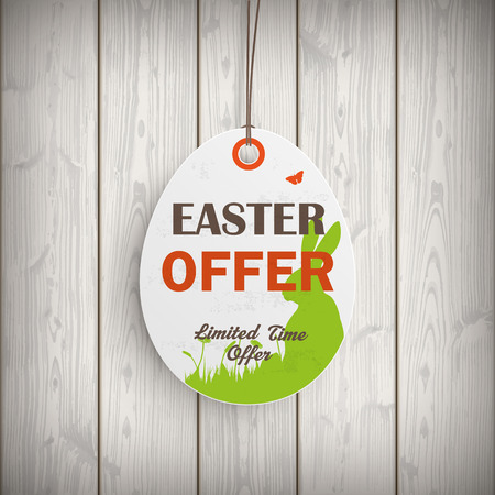 hale: Price sticker with text Easter Offer. Eps 10 vector file.