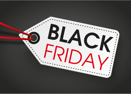 eps 10: Price label with text black friday on the dark background. Eps 10 vector file.
