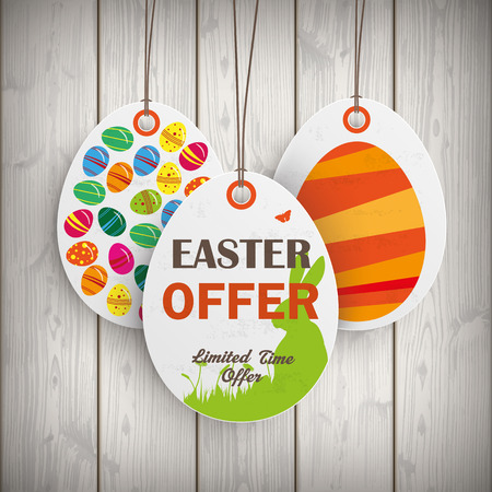 Price sticker with text Easter Offer.