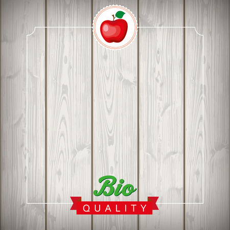laths: Bio apple food advertise with wooden laths.