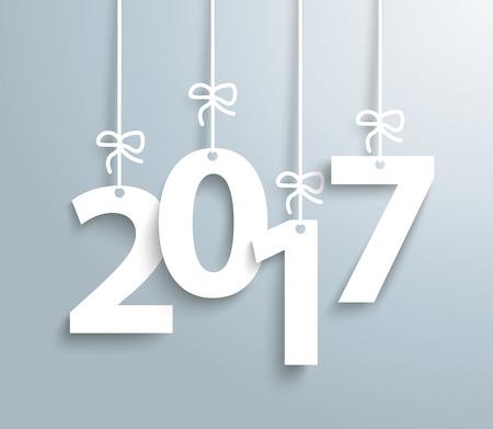 silvester: 2017 on the gray background. Eps 10 vector file. Illustration