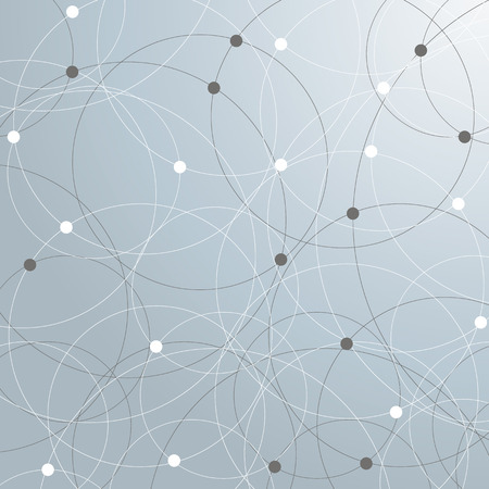 abstractly: Abstract networks background with connected circles. Eps 10 vector file.