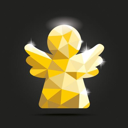 dark angel: Golden angel on the dark background. Eps 10 vector file.