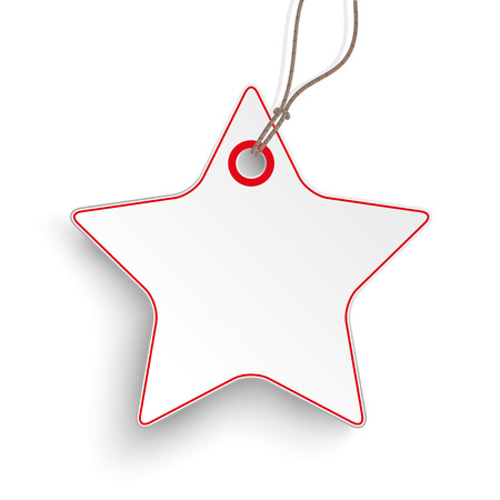 price sticker: Red and white price sticker star on the white background.  Eps 10 vector file.