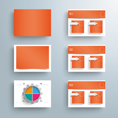 visualisation: Templates for presentation on the gray background. Eps 10 vector file.