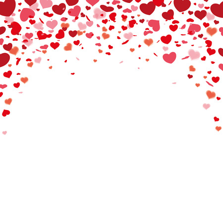 rebate: Red hearts confetti on the white. Eps 10 vector file. Illustration