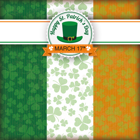 17th of march: Vintage cover with banner and emblem for St. Patricks Day. Eps 10 vector file. Illustration
