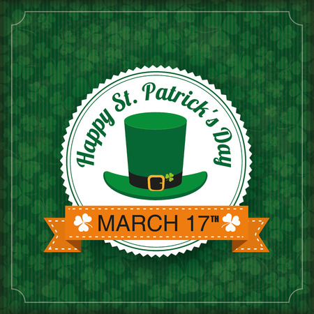 17th: Vintage cover with for St. Patricks Day. Eps 10 vector file.