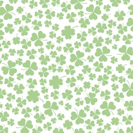 st: Vintage cover with shamrocks for St. Patricks Day. Eps 10 vector file. Illustration