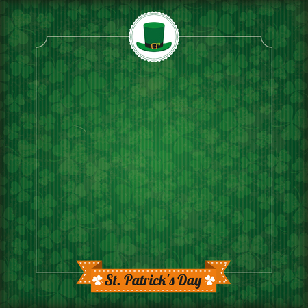 17th of march: Vintage cover with for St. Patricks Day. Eps 10 vector file.