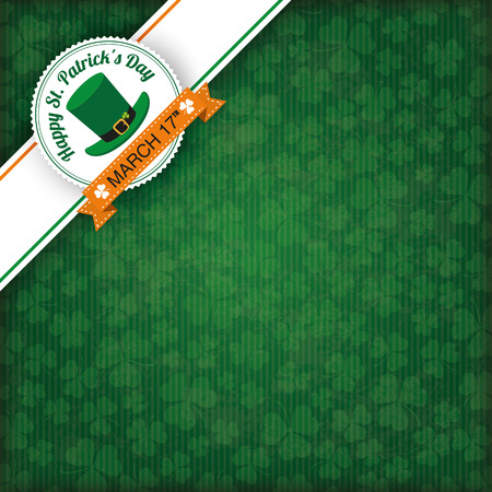 ire: Vintage cover with edge banner for St. Patricks Day. Eps 10 vector file. Illustration