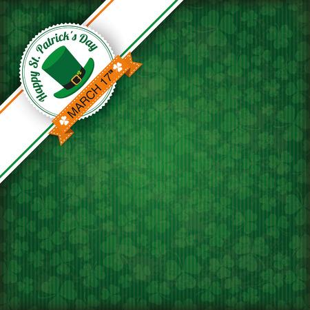 eps: Vintage cover with edge banner for St. Patricks Day. Eps 10 vector file. Illustration