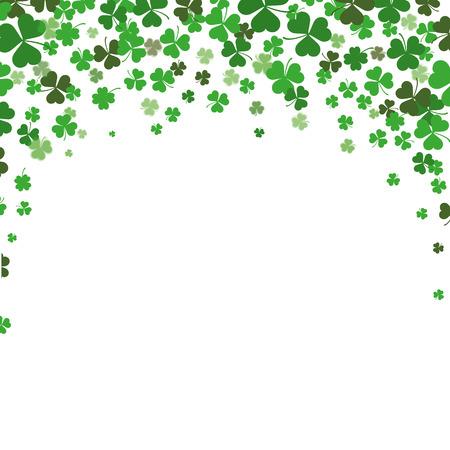 Vintage-Abdeckung mit Kleeblätter für St. Patricks Day. Eps 10 Vektor-Datei. Illustration