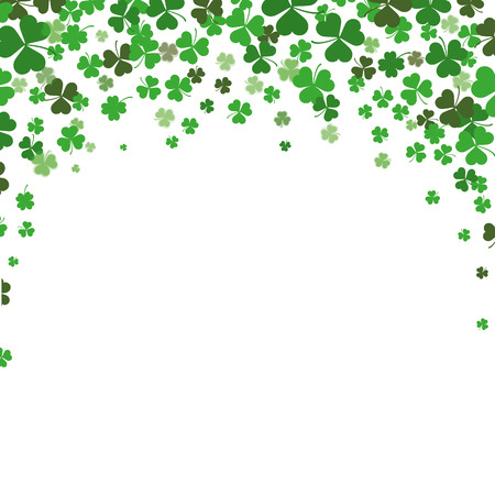 Vintage cover with shamrocks for St. Patricks Day. Eps 10 vector file. Ilustrace