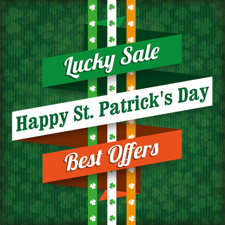 ire: Sale vintage cover with for St. Patricks Day. Eps 10 vector file.