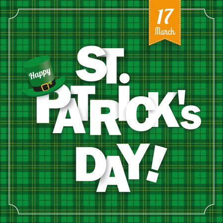 checked flag: Green irish tartan background for St. Patricks Day. Eps 10 vector file.
