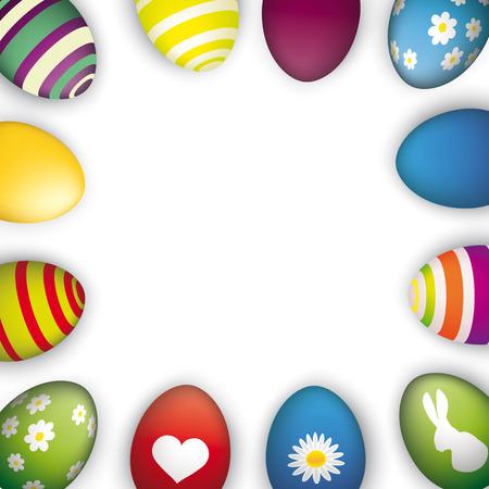 eps 10: Easter eggs on the white background. Eps 10 vector file.